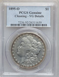 Morgan Dollars, 1895-O $1 -- Cleaning -- PCGS Genuine. VG Details. NGC Census:(91/3961). PCGS Population (156/4582). Mintage: 450,000. Num...