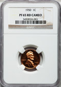 Proof Lincoln Cents, 1950 1C PR65 Red Cameo NGC. NGC Census: (104/120). PCGS Population(127/70). Numismedia Wsl. Price for problem free NGC/PC...