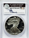 Modern Bullion Coins, 1996-P $1 One Ounce Silver Eagle Insert autographed By John M.Mercanti,12th Chief Engraver of the U.S. Mint, PR70 Deep C...