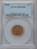 Indian Cents: , 1900 1C MS64 Red and Brown PCGS. PCGS Population (309/78). NGCCensus: (181/106). Mintage: 66,833,764. Numismedia Wsl. Pric...