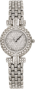 Estate Jewelry:Watches, Swiss Lady's Diamond, White Gold Wristwatch, modern. ...