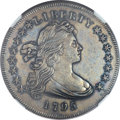 Early Dollars, 1795 $1 Draped Bust, Off Center AU53 NGC. B-14, BB-51, R.2....