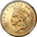 Three Dollar Gold Pieces, 1880 $3 MS65+ NGC. CAC....