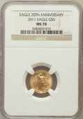 Modern Bullion Coins, 2011 $5 Tenth-Ounce Gold Eagle, 25th Anniversary MS70 NGC. NGCCensus: (505). PCGS Population (6)....