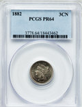 Proof Three Cent Nickels: , 1882 3CN PR64 PCGS. PCGS Population (219/694). NGC Census:(160/633). Mintage: 3,100. Numismedia Wsl. Price for problem fre...