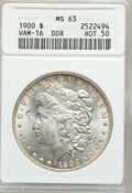 Morgan Dollars, 1900 $1 Double Die Reverse MS63 ANACS. Hot-50. Vam-16. NGC Census:(7005/18227). PCGS Population (9293/17110). Mintage: 8,...