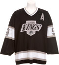 Hockey Collectibles:Uniforms, 1988-89 Wayne Gretzky Game Worn, Signed Los Angeles KingsJersey....