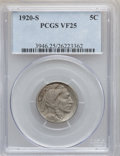 Buffalo Nickels: , 1920-S 5C VF25 PCGS. PCGS Population (19/776). NGC Census:(23/598). Mintage: 9,689,000. Numismedia Wsl. Price for problem ...