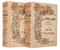 TWO WONDERFULLY ILLUSTRATED VOLUMES OF PLAYING CARDS FROM THE ESTATE OF YVONNE COTY Hachette et Cie, Paris, 1906.&lt...