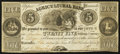 Canadian Currency: , Toronto, UC- Agricultural Bank $5/25 Shillings Nov. 1, 1835 Ch. 20-12-02-14 . ...