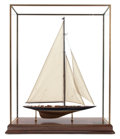 Maritime:Decorative Art, SCALE SHIP MODEL OF THE AMERICA'S CUP YACHT ENDEAVOUR . 34 x 10-1/2x 30-1/2 inches (86.4 x 26.7 x 77.5 cm). Built for the...
