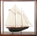 Maritime:Decorative Art, SCALE SHIP MODEL OF THE YACHT MALABAR X . 43 x 43-3/4 x 15 inches(109.2 x 111.1 x 38.1 cm). Measuring 75 feet overall and...