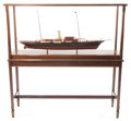 Maritime:Decorative Art, SCALE SHIP MODEL OF THE J.P. MORGAN YACHT CORSAIR IV . 56 x 16 x 26inches (142.2 x 40.6 x 66.0 cm). The steel-hulled, tur...
