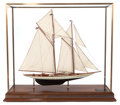 Maritime:Decorative Art, SCALE SHIP MODEL OF THE SCHOONER YACHT METEOR IV . 32-1/2 x 30 x8-1/2 inches (82.6 x 76.2 x 21.6 cm). Designed by Cary Sm...