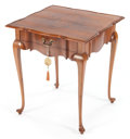 Furniture , A GEORGE III-STYLE WALNUT SIDE TABLE . Circa 1900. 28 x 24-1/4 x 24-1/4 inches (71.1 x 61.6 x 61.6 cm). ...