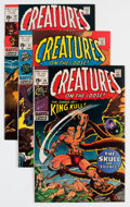 Bronze Age (1970-1979):Horror, Creatures on the Loose #10-12 Group - Savannah pedigree (Marvel,1971) Condition: Average NM-.... (Total: 3 Comic Books)
