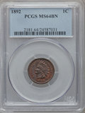 Indian Cents: , 1892 1C MS64 Brown PCGS. PCGS Population (30/1). NGC Census:(89/22). Mintage: 37,649,832. Numismedia Wsl. Price for proble...