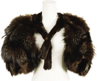 Marian Marsh Owned and Worn Silver Fox Capelet. A custom-made silver fox capelet owned by Marian Marsh, and worn by her...