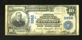 National Bank Notes:Kentucky, Lexington, KY - $10 1902 Plain Back Fr. 627 Phoenix NB & TC Ch.# 3052. There are some bank rubber stampings front and b...