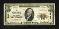 National Bank Notes:West Virginia, Fairmont, WV - $10 1929 Ty. 1 The NB of Fairmont Ch. # 9462. Someembossing remains on this presentable example from a s...