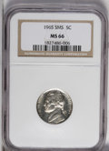 SMS Jefferson Nickels: , 1965 5C SMS MS66 NGC. NGC Census: (295/308). PCGS Population(350/162). Mintage: 2,360,000. Numismedia Wsl. Price: $14. (#4...