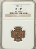 Indian Cents: , 1907 1C MS65 Brown NGC. NGC Census: (51/1). PCGS Population (9/0).Mintage: 108,138,616. Numismedia Wsl. Price for problem ...