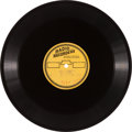 "Music Memorabilia:Recordings, Elvis Presley ""Shopping Around""/ ""Big Boots"" Acetate (RadioRecorders, 1960)...."