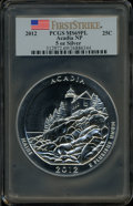 Modern Bullion Coins, 2012 25C Acadia National Park Five-Ounce Silver First Strike MS69Prooflike PCGS. PCGS Population (85/0). ..