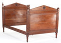 Furniture : French, A CHARLES X MAHOGANY DAYBED . 19th century. 51 x 53-1/2 x 80-1/2inches (129.5 x 135.9 x 204.5 cm). ... (Total: 4 Items)