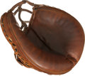 Baseball Collectibles:Others, 1952-53 Yogi Berra Game Used Catcher's Mitt....