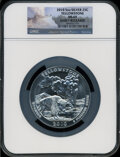 Modern Bullion Coins, 2010 25C Yellowstone Five Ounce Silver, Early Releases MS69 NGC.NGC Census: (0/0). PCGS Population (951/0)....