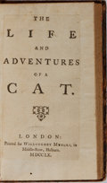 Books:Literature Pre-1900, William Guthrie. The Life and Adventures of a Cat.Willoughby Mynors, 1760. [2], 190 pages. Contemporary mottledlea...