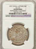 Bust Half Dollars, 1829 50C Small Letters -- Improperly Cleaned -- NGC Details. AU.O-112.. NGC Census: (68/740). PCGS Population (143/691). ...