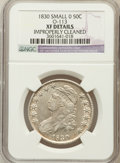 Bust Half Dollars, 1830 50C Small 0 -- Improperly Cleaned -- NGC Details. XF. O-113.NGC Census: (102/1474). PCGS Population (147/1243). Minta...
