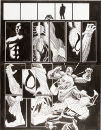John Romita Jr. and Scott Hanna Spider-Man #75 Pages 11 and 12 Original Art (Marvel, 1996)
