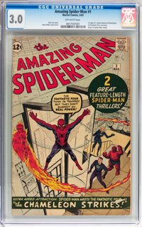 The Amazing Spider-Man #1 (Marvel, 1963) CGC GD/VG 3.0 Off-white pages