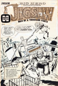 Original Comic Art:Covers, Bill Draut Jigsaw (Big Hero Adventures) #1 Cover OriginalArt (Harvey, c. 1966)....