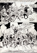 Original Comic Art:Panel Pages, John Buscema and Tony DeZuniga Thor Annual #5 Page 29Original Art (Marvel, 1976)....