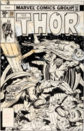 Original Comic Art:Covers, Jack Kirby, Joe Sinnott, and Marie Severin Thor #258 Grey Gargoyle Cover Original Art (Marvel, 1977)....