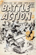 Original Comic Art:Covers, Battle Action #30 Cover Original Art (Atlas, 1957)....