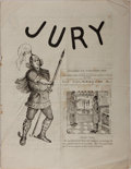 Books:Periodicals, William N. Ritchie [editor]. Jury. Vol. 3, No. 7. July 19,1888. Wrappers. Scattered foxing with rusted staples....