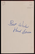 """Baseball Collectibles:Publications, Hank Aaron Signed """"Aaron"""" Hardcover Book...."""