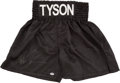 Boxing Collectibles:Autographs, Mike Tyson Signed Trunks. ...