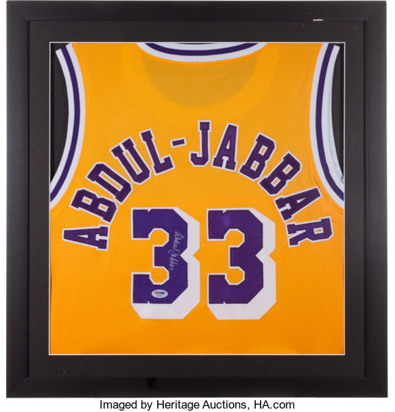 003a87ffb16 Kareem Abdul Jabbar Signed Los Angeles Lakers Jersey. ...
