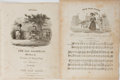 Books:Music & Sheet Music, [Sheet Music]. Thomas H. Bayly, et al. Group of Two 19th Century Items, Including The Old Maid and The Old B... (Total: 2 Items)