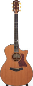 Musical Instruments:Acoustic Guitars, 2004 Taylor 514 CE Natural Acoustic Electric Guitar, Serial # 200409116113. ...