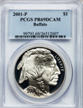 Modern Issues: , 2001-P $1 Buffalo Silver Dollar PR69 Deep Cameo PCGS. PCGSPopulation (16553/684). NGC Census: (11843/1498). Numismedia Ws...