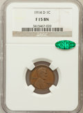 Lincoln Cents: , 1914-D 1C Fine 15 NGC. CAC. NGC Census: (300/1700). PCGS Population(570/2902). Mintage: 1,193,000. Numismedia Wsl. Price f...