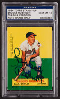 Autographs:Sports Cards, Signed 1964 Topps Stand-Up Brooks Robinson PSA/DNA Gem MT 10. ...