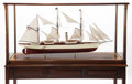 Maritime:Decorative Art, SCALE SHIP MODEL OF THE PRIVATE STEAM YACHT HARVARD. 66 x 35-1/2 x21-1/2 inches (167.6 x 90.2 x 54.6 cm). A finely crafte...